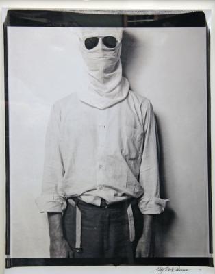 "Marsha Burns, Untitled (triptych, image #3), 1983, unique 20 x 24"" Polaroid, 28 x 22"" paper size, 32 x 25.25"" framed"
