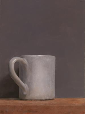 """Judy Nimtz, """"Caffè"""", 2015, oil on panel, 9 3/8 x 7"""""""