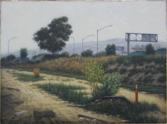 """Parallel, 2014, oil on linen, 9 x 12"""