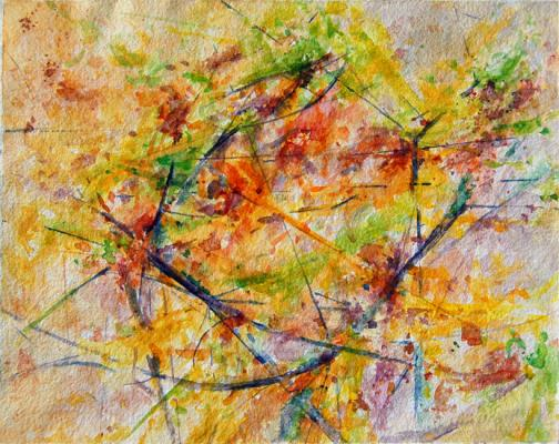 """Kimberly Clark, """"End of Autumn II"""", 2011, watercolor on paper"""