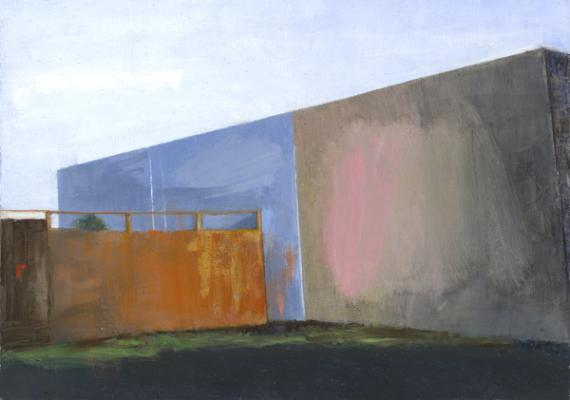 """Wall"", 2008, oil on paper, 5"" x 7"""
