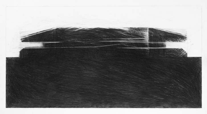 "Steve Costie, ""Concrete Form #5"", 2011, graphite on paper, 14 x 27"" im."