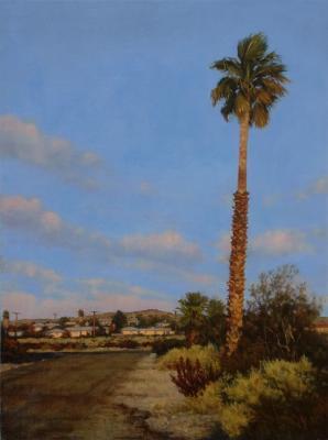 """Darlene Campbell, """"Desert Air"""", 2011, oil on panel, 12 x 9"""""""