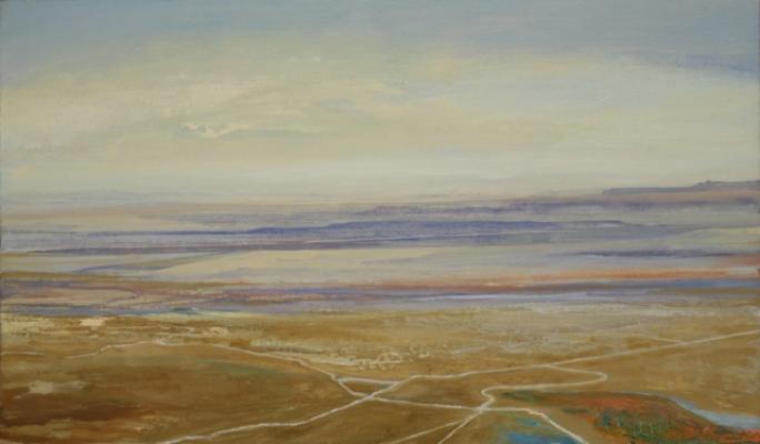 """Desert #2"", 2015, oil on canvas, 15.5 x 26.5"""