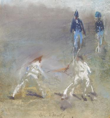 "David Fertig, ""1802"". 2009, pastel on paper, 9 x 8.5"""