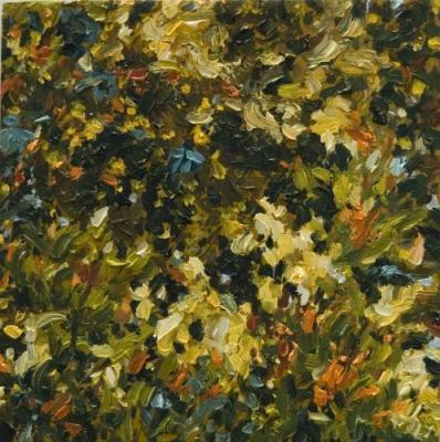"""Kimberly Clark, """"7.20.2010"""", oil on panel, 4.5 x 4.5"""""""