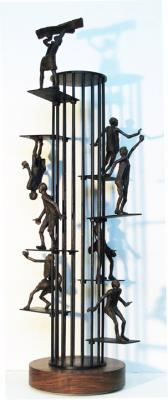 "Phillip Levine, ""Fear & Habit"", 2013, Bronze / Steel, 33"" x 14"""