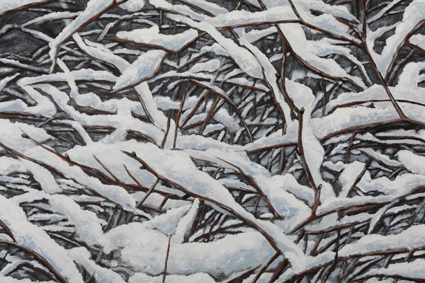 """First Snow"", 2018, Oil on canvas, 30"" x 40"""