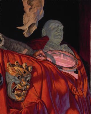 "F Scott Hess, ""Unnatural History"", 2016, oil & egg tempera on canvas, 20"" x 16"""