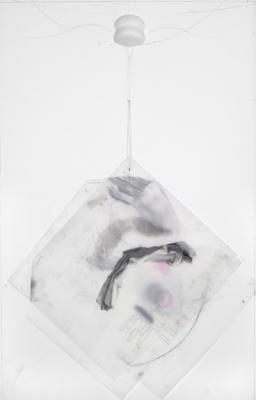 """""""Pinkie"""", 2007, graphite on Mylar, 32 x 21.5"""" framed"""