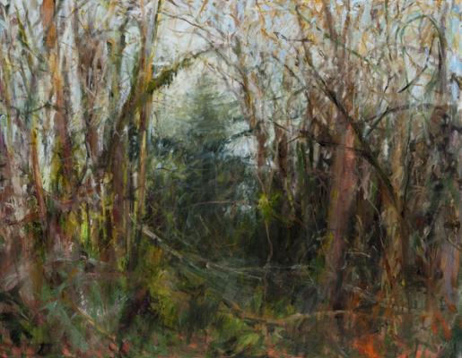 "Kathy Gore Fuss, ""Judy's View"", 2014, oil n canvas, 28 x 36"""