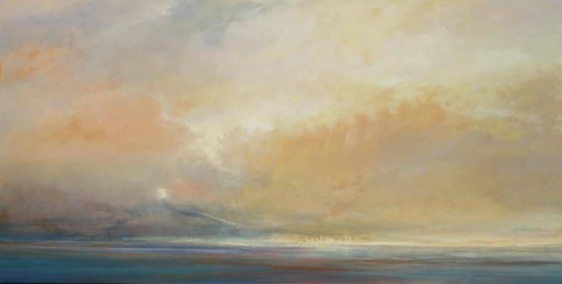 """City #2"", 2013, oil on canvas, 36 x 72"""
