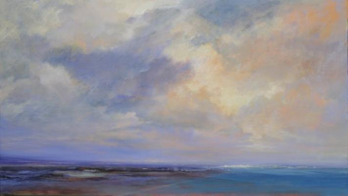"""City #3"", 2015, oil on canvas, 37 x 66"""