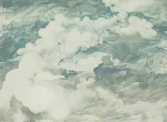 """Cloud Series #3"", 2015, oil on canvas"