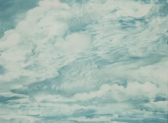 "Philip Govedare, ""Cloud Series 8"", 2015, Oil on Canvas, 16"" x19"" framed"
