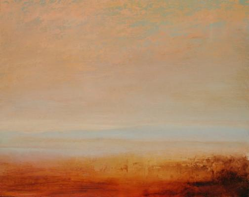 """Desert"", 2012, oil on board, 11 x 14"""
