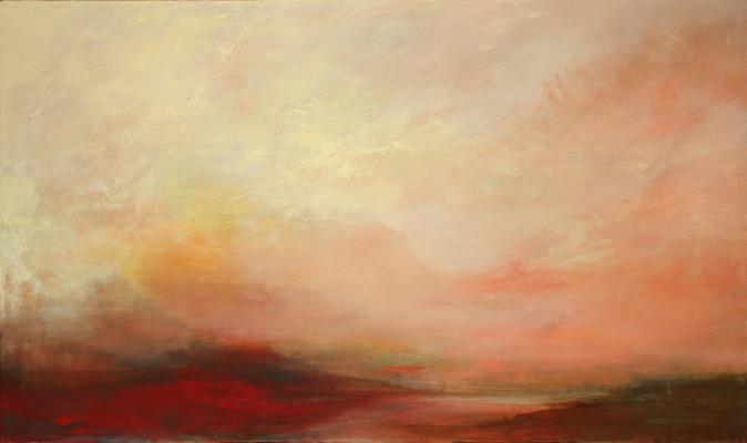 """""""Dusk 2"""", 2015, oil on canvas, 28"""" x 55"""""""