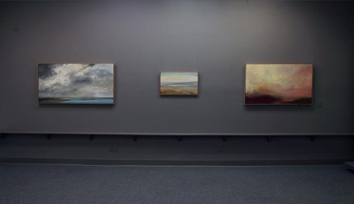 """Philip Govedare: Sky Paintings"" installation"