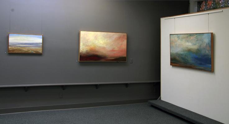 """""""Philip Govedare: Sky Paintings"""" installation"""