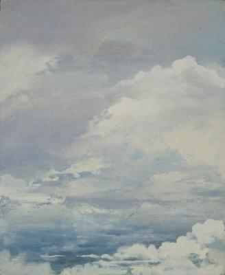 """Sky Series #4"", 2015, oil on board, 11 x 9"""