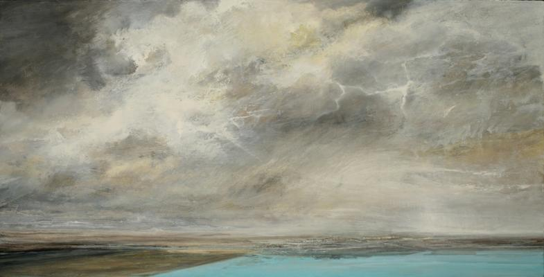 """Storm"", 2015, oil on canvas, 28"" x 55"""
