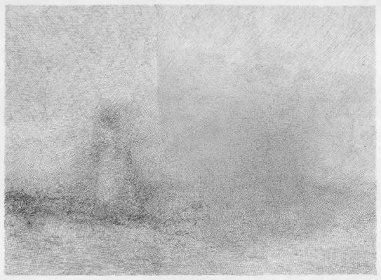 "John Fadeff, ""Dentil"", 2013, ink on paper, 17 x 23"""
