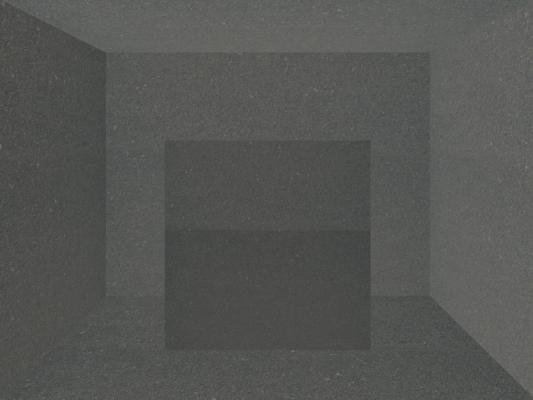 """Gray Room, Number 1"", 2012, archival inkjet print, ed. of 3, 9 x 12"" , 16 x 20"" fr."