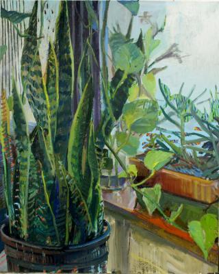 """""""Growth"""", oil on canvas, 60"""" x 48"""""""
