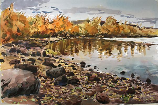"Henk Pander, ""Pike Lake in Fall, Steens Mountains"""