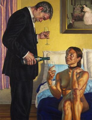 "F. Scott Hess, ""Bubbly"", 2012, oil on aluminum, 39"" x 30"""
