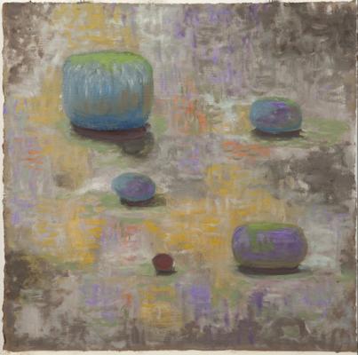 "Jim Holl, ""Indeterminate Landscape 3.01.09"", oil on paper, 24 x 24"""