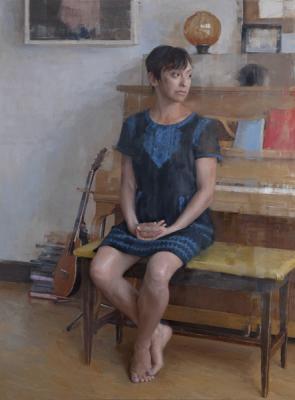 """""""Inara"""", 2016, oil on panel, 48"""" x 36"""""""
