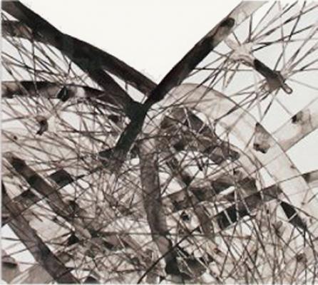 """Japanese Dissemble III"", 2007, ink on mylar, 21.5x24"""
