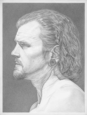 """Robert Schultz, """"Jeremy"""", 2015, silverpoint, 7"""" x 5.375"""""""