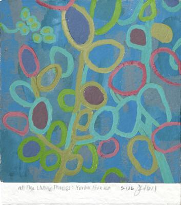 "Jim Holl, ""Yerba Buena 5.11.16"", 2016, Oil on paper, 10.5"" x 9.5"""