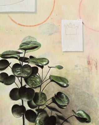 "Jim Phalen, ""Mason's Hand"", 2012, oil on panel, 20 x 16"""