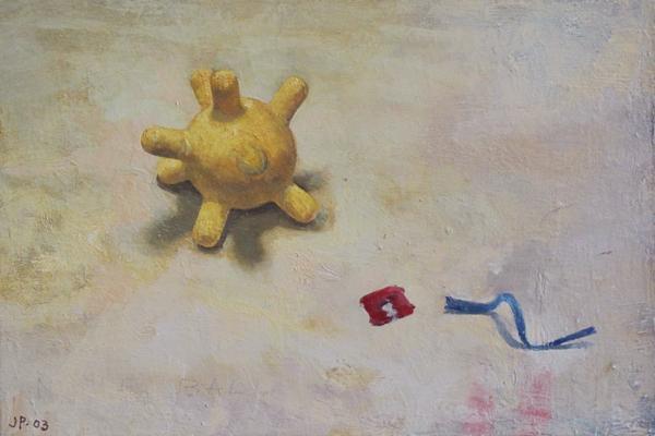 "Jim Phalen, ""Nipple Ball"", 2003, oil on panel, 8 x 12"""