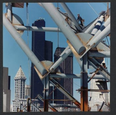 "Joe Crookes, Seattle Skyline, 1998, 35mm color photo, 1/5, 19.5 x 19.5"", 27.5 x 27.5"" framed"
