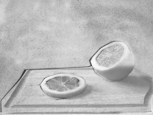 "Caroline Kapp, ""Lemon Three Ways"", archival inkjet print, 12 x9"" image"