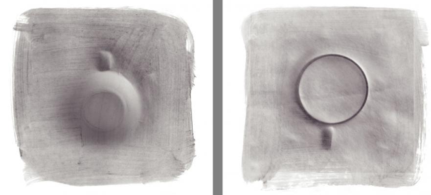 "Caroline Kapp, ""Upwards / Downwards"" (diptych), 2015, Giclee prints, unframed, 10 x10"" each"