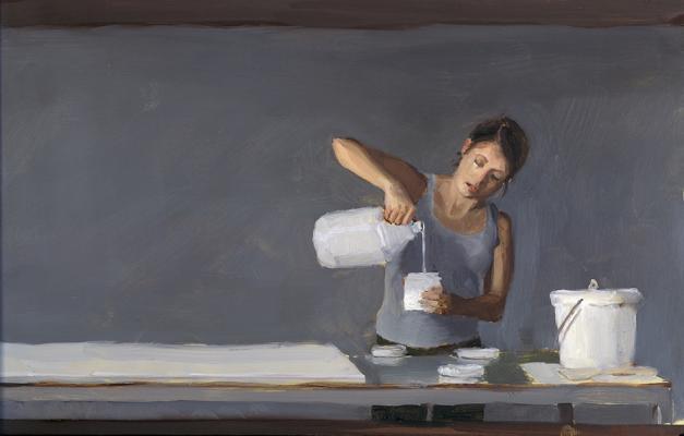 """Kenny Harris, """"Pour Study"""", 2011, oil on panel, 8 x 12"""""""