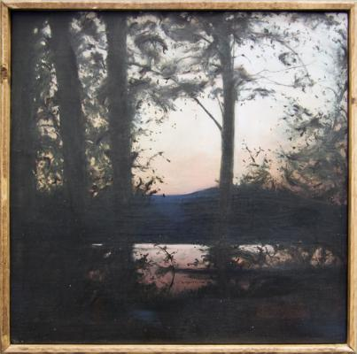 "Kimberly Clark, ""Recollections of Flying Pond 4, 2013, oil on linen, 12 x 12"""