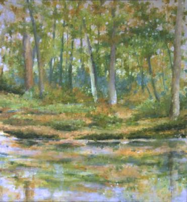 November Morning, 2012, oil on canvas, 60 x 56""