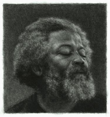 "Ira Korman, ""Portrait Study 2"", 2012, charcoal on paper, 6 x 5.5"""