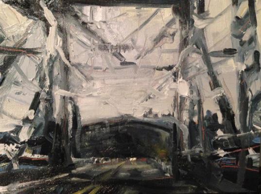 "Laura Hamje, ""Astoria Variation"", 2014, oil on canvas, 6 x 8"""