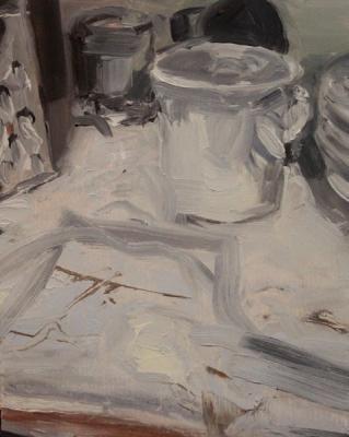 "Laura Hamje, ""Cupboard"", 2015, oil on panel, 2015, 10 x 8"""