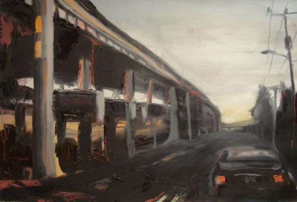 "Laura Hamje, ""Eastlake at Dusk"", 2014, oil on paper, 15 x 22"""