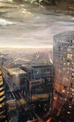 "Laura Hamje, ""Monday Morning"", 2014, oil on panel, 66 x 40"""