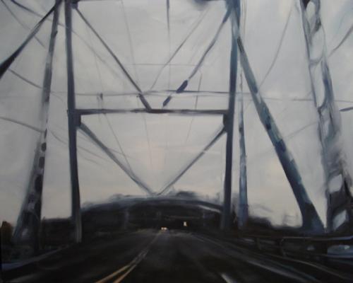 "Laura Hamje, ""Underway"", 2014, oil on linen, 4 x 5'"