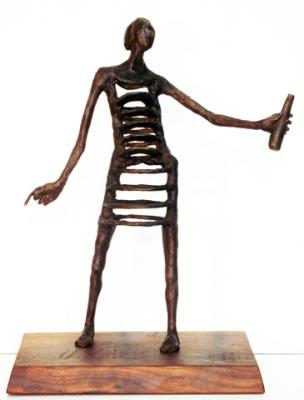 """Layers"", 2015, bronze, 13.5""h x 10""w x 4″d"
